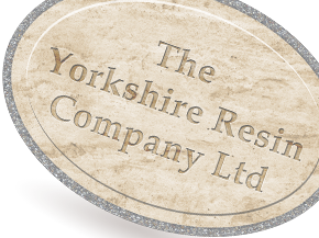 A faded example of the Yorkshire Resin company logo.